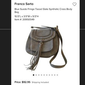 b59960b39e69 Franco Sarto Bags - Francosarto cross body bag